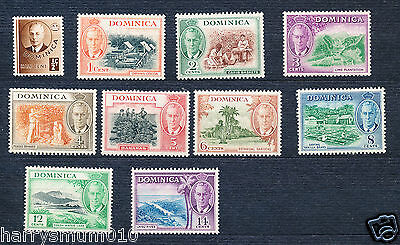 Dominica stamps 1951 set to 14c MNH