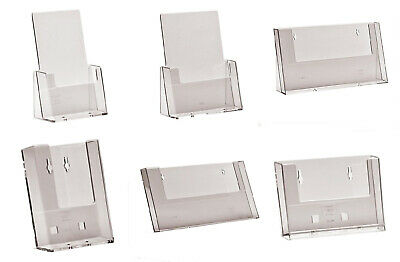 Leaflet & Business Card Holder Display Brochure Flyer Menu Stands Dispensers