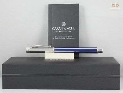 Caran D'ache Varius Chinese Lacquer Blue Silver With Rhodium Fountain Awesome !!