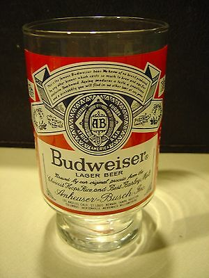 Vintage Set of 2 - Large 32 oz. Budweiser BEER Drinking Glass Stein