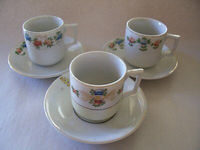 Lot of 3 Occupied Japan cups and saucers.
