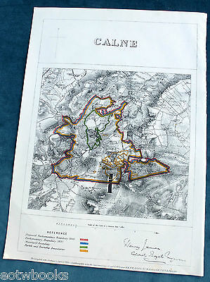CALNE -  Antique Map / Plan, Boundary Commissioners Report - 1868 .