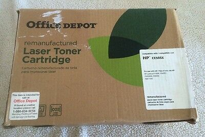 Office Depot Remanufactured Toner Cartridge Replacement for HP CE505X ( Black )
