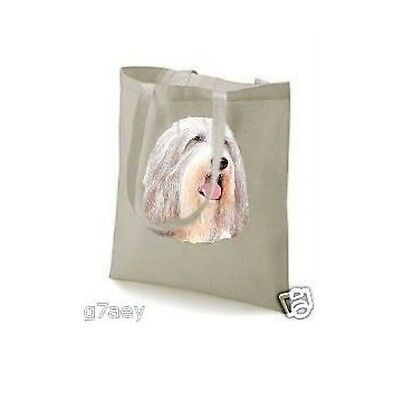 Bearded Collie Face Design Printed Tote ECO Bag