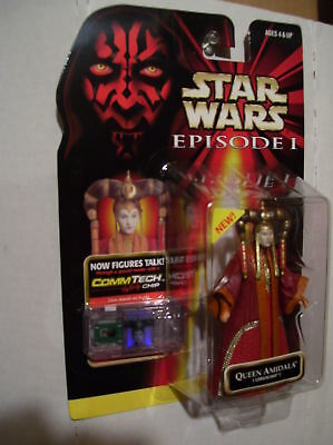 STAR WARS EPISODE 1 QUEEN AMIDALA 1999 CORUSCANT MIP ''NEW FROM THE CASE''