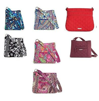 NWT Vera Bradley Large Or Triple Zip HIPSTER TZH CHOOSE Color + Placement