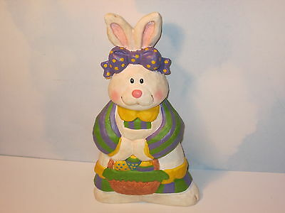 """Easter Bunny Rabbit with Basket of Eggs 9"""""""