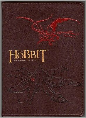 THE HOBBIT ~ AN UNEXPECTED JOURNEY LEATHER JOURNAL w/ SMAUG the DRAGON ~ TOLKIEN