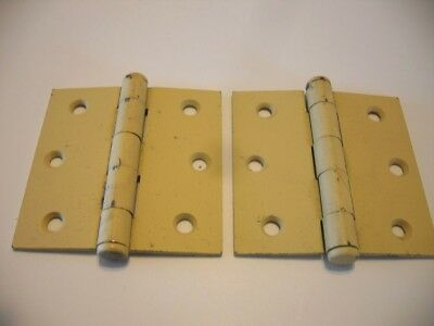 "Vtg NOS Button Tip Primer Coated Door HINGES butt 3"" X 3"" Mckinney USA new old"
