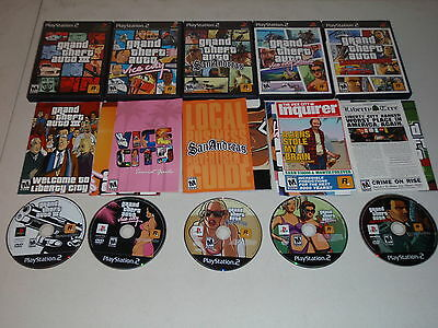 Lot of 5 Grand Theft Auto Games Playstation 2 San Andreas GTA III More Complete
