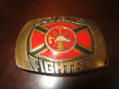 Fire Fighter belt buckle 1981