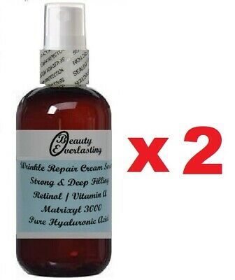 *3% Retinol-Vitamin A Cream Serum w Matrixyl 3000*Pure Hyaluronic Acid 2x 2.2oz