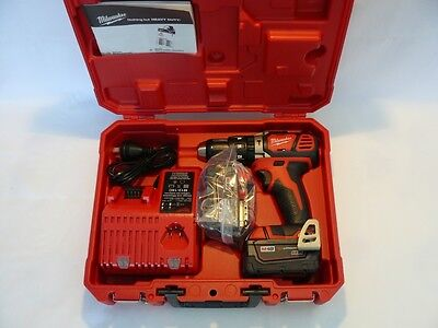 New Milwaukee 18V Cordless M18Dd Drill Driver Kit 3Amp Batteries