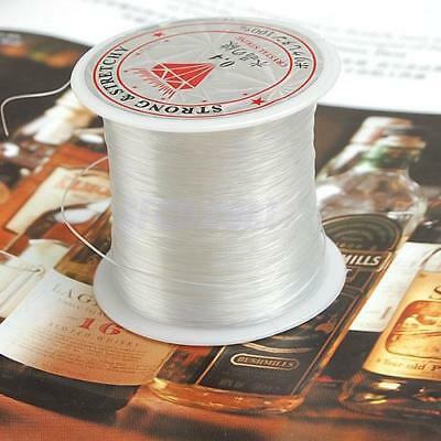 76 Yards 0.4mm Crystal Nylon Cord String Jewelry Beading Thread / Fishing Line