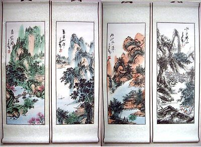 4 Japanese Calligraphy Painting Scroll *Landscape* #w5