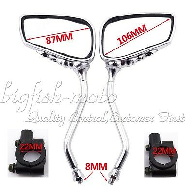 8MM Motorcycle Rearview Mirror Mount Bracket Clamp ATV Pit Bike Moped Scooter