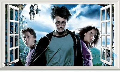 Harry Potter Hermione 3D Window view Wall Decals Removable Stickers Kids Decor