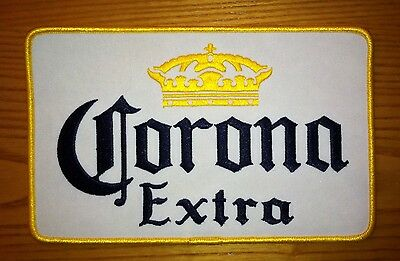 """Corona Extra Beer Large Jacket Racing Patch - New 8"""" x 5"""""""