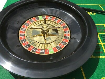 Brand New Roulette Set - Boxed With Chips, Felt + Rake + Blackjack