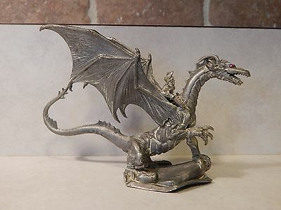 Huma's Silver Dragon PP501 Ral Partha Pewter 1990 Dungeons & Dragons AD&D