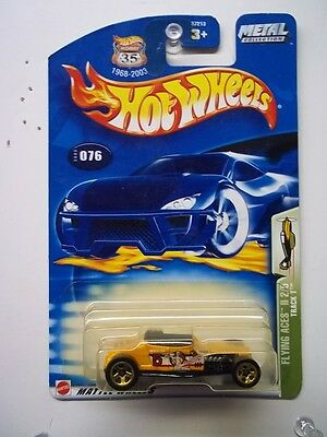 HOT WHEELS 2003  #076 TRACK T YELLOW 5s/g FLYING ACES II    READ