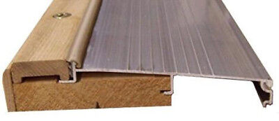 """Door Threshold- Inswing 5 5/8"""" Wide- 72"""" Mill /Silver Color/Pine"""