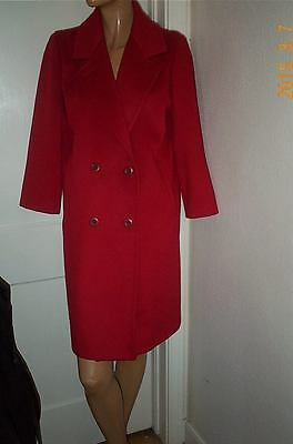 GORGEOUS FORECASTER RED COAT 100% WOOL SIZE M PRE-LOVED CONDITION