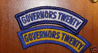 US ARMY PATCH, NATIONAL GUARD,GOVERNORS TWENTY TAB (2)