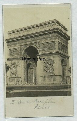 Arc de Triomphe Paris France c1860 Albumen CDV