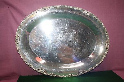 Beautiful Antique Oval Silver Plated W.M. Mounts Tray~