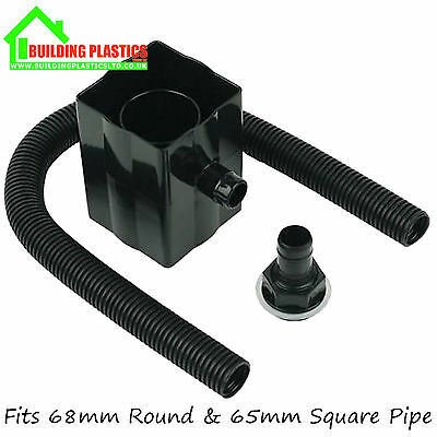 RAINWATER DIVERTER KIT FOR 68mm Round & 65mm Square Downpipe. FREE DELIVERY