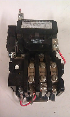 GE CR308B1 NEMA Size 0 Motor Starter w/ Auxilary Contact  120VAC Coil V154