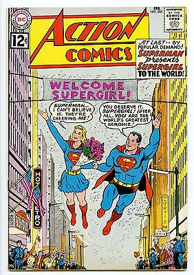 """ACTION COMICS 285 """"NM-"""" DC SUPERMAN! Supergirl known to the World! High Grade"""