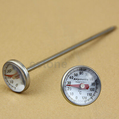 New Stainless Steel Kitchen Food Cooking Milk Probe Temperature Thermometer