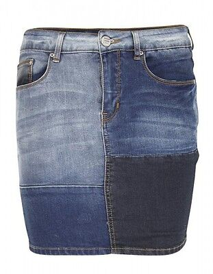Jeansrock Used-Waschung Kurzer-Rock Minirock Damen Blau Aniston Fashion Trend
