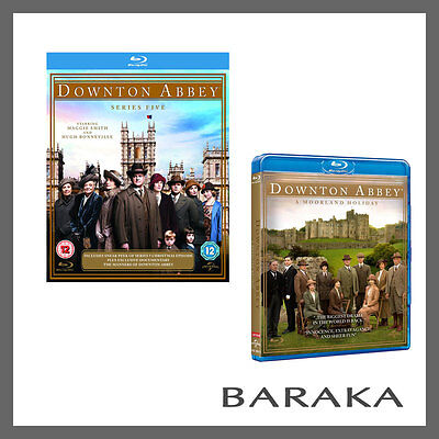 DOWNTON ABBEY SEASON SERIES 5+A Moorland Holiday 2014 Christmas Special Blu ray