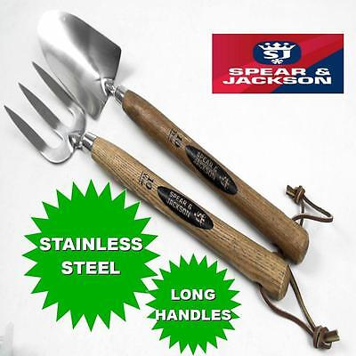 Spear & Jackson Traditional Stainless Steel Long Handled Forks and Trowels 18""