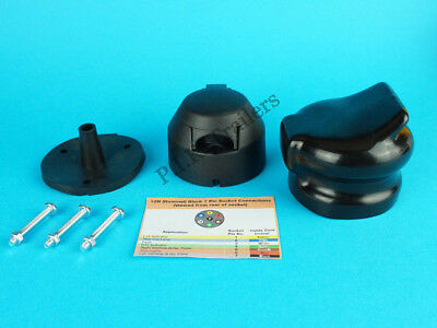 7 Pin Plastic 12N Socket with Rear Gasket Seal & Socket Cover for Trailer