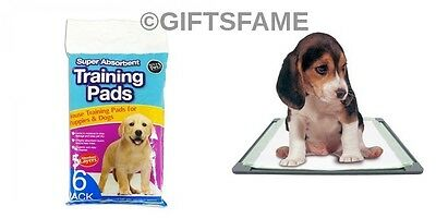 6 pack Dog Doggy Puppy Pet Disposable Absorbent Toilet Wee Poo Training Pad Pads