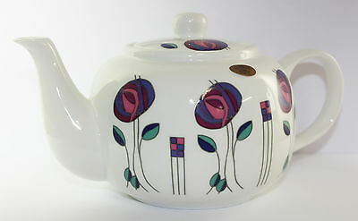 Mackintosh Fine China Teapot Purple Kitchen Floral Hot Drink Accessory Gift NEW
