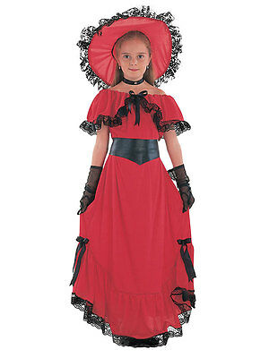 Scarlet O'Hara Girls Book Week Victorian Childrens Fancy Dress Kids Costume 3-13