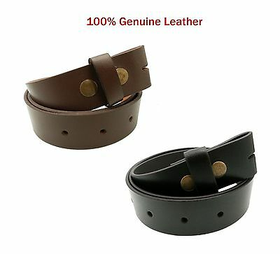 Mens / Ladies Real Leather Snap On Strap High Quality Stylish Jeans Trouser Belt