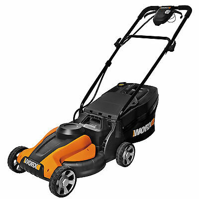 """WORX 14"""" Cutting Deck Cordless Electric Lawn Mower 24V Battery Powered - WG775"""