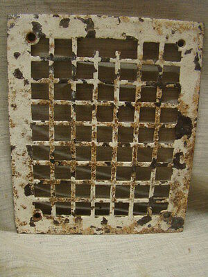 Vintage 1920's Cast Iron Heating Grate Cover Square Design 11.75 X 9.75