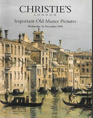 Christie's Sale 6068 Important Old Master Paintings Auction Catalog 1998