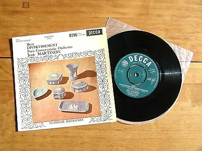 "7"" 45 EP DECCA CEP 681 Ibert ""Divertissement"" Paris Conservatoire cond. Martinon"