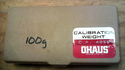 OHAUS 100g CALIBRATION WEIGHT W/CERTIFICATE NUMBER 4856