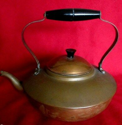Antique Vintage Copper & Brass Tea Kettle Pot Douro B&M made in Portugal