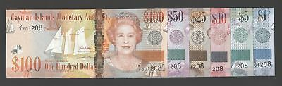 Cayman 1-100 dollars 2010 UNC P. New Serie,  Banknotes, Uncirculated