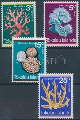 Tokelau Islands stamp Corals set MNH 1973 Mi 30-33 WS163295